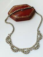 "Vintage 15.5"" Diamante Diamond Paste Necklace"