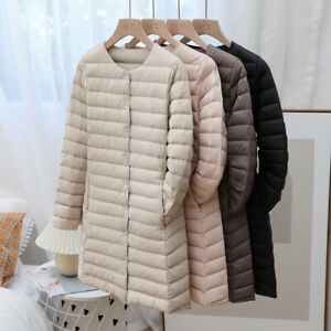 Winter Woman 90% Duck Down Puffer Jacket Slim Coat Ultra-Light Quilted parka
