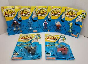The Tick Ban Dai 1994 Lot of 7 w/ 2 windup figures.  Fox Childrens Network