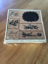 6 MOUNTED RUBBER CRAFTING STAMPS