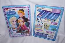DISNEY FROZEN TRAVEL TIN MAGNETIC PLAYSET CARD GAMES MAGNETS OLAF ELSA ANNA NEW