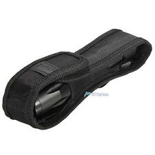 Black 16cm  Nylon Holster Holder Pouch Case for Flashlight Torch #M