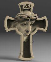 3D STL Model JESUS & CROSS for CNC Router 3D Printer Engraver Carving Aspire
