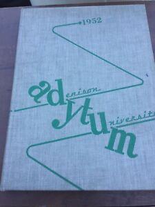 1952 Adytum Denison University Granville Ohio Yearbook Lot B3