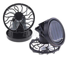 Portable Clip-on Solar Cell Fan Sun Powered energy-saving Panel Cooling Cooler