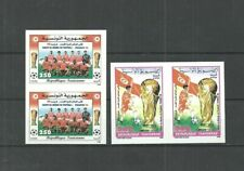 1998 - Tunisia- Imperforated pair- FIFA World Soccer Cup - Football- France 98