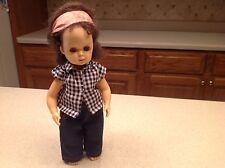 Vintage Tiny Terri Lee Doll Walker W/ Tagged Clothing Brunette W/ Brown Eyes