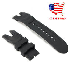 US!Black Rubber Wristwatch Watch Band Strap For Invicta Reserve Collection Venom