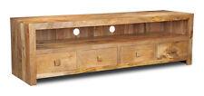 Dakota Furniture Solid Mango Wood Large Media Cabinet (67l)