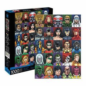 DC Comics Faces 1000 Piece Jigsaw Puzzle NEW