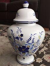 Vintage Large & Beautifully Hand Painted Portuguese Glazed Porcelain Cookie Jar