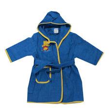 Bademantel Morgenmantel Bademode Frottee Baby Kinder Blau Baumwolle Kapuze Gr.80