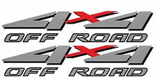 1999 2000 2001 4x4 Off Road Decals for F-250 HD F-350 Super Duty Truck Silver
