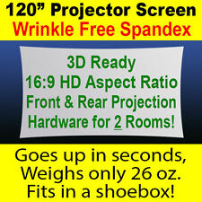 "120"" (10') Portable Outdoor Spandex Projector Screen - Front & Rear Projection"