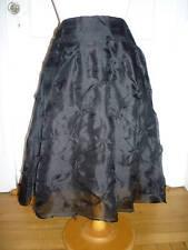 NWT: CHAIKEN Black Silk Organza Skirt w/ Rosettes, 8