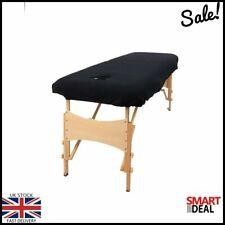 Nouveau Table de massage canapé couverture avec visage Trou Soft Touch Thérapie Beauté Lit Noir