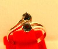 Silberring mit Saphir  Edelsteinring   mit blauem Stein Größe 53 gestempelt 925