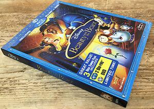 Beauty & the Beast Blu-ray DVD 2010 2 Disc Set Blue Diamond Edition 3 Disc Combo