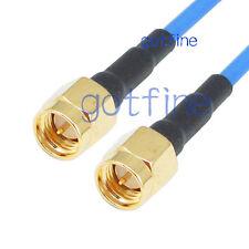 SMA male to male Plug RF lot RG405 LOW LOSS Semi Flexible blue rigid coax Cable