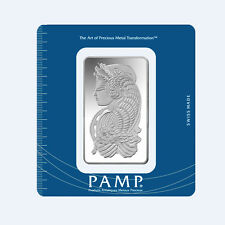 Lingotes 100 gramos PAMP suisse 999 finamente plata 100g silverbar fortuna blister