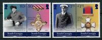 South Georgia & Sandwich Isl 2018 MNH WW1 WWI Shackleton Medals 4v Set Stamps