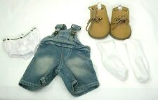 Build-A-Bear Clothes/Outfit Blue Denim Overhauls Socks Underwear & Work Boots