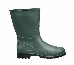 Briers Mens Traditional Short PVC Wellington Boots - Green - Size 12 #24E10