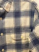J.CREW MADRAS Long Sleeve Button Front Shirt Mens Size Small S