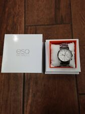 Movado ESQ Stainless Steel 3ATM Watch W/Box