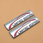 2x New Limited Edition Side Fender Metal Emblem 3d Rear Trunk Chrome Sport Badge