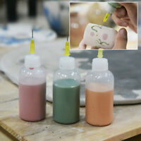 DIY Plastic Ceramic Tools Squeezing Mud Bottles With Needle Point Line Decors j