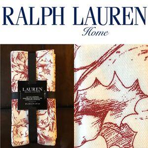 "🎄Ralph Lauren Napkins ⚪️🔴 Poinsettia Holly ⚪️🔴 20 x 20"" 🌟Set Of Four🌟"