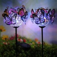 2XSolar Garden Lights LED Butterfly Stake Lights Outdoor Pathway Waterproof Lamp