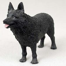 Schipperke dog Hand Painted Figurine Resin Statue Collectible black puppy New