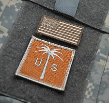 KANDAHAR WHACKER JSOC ELITE WARRIORS JTF WAR TROPHY INSIGNIA: PALM TREE + US TAB