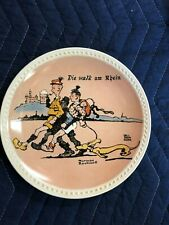 "Norman Rockwell Plate ""Die Walk am Rhein"""" by Newell Pottery Co."