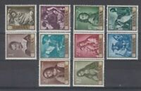 SPAIN  (1962 ) MNH COMPLETE SET - SC SCOTT 1095/1104 ZURBARAN PAINTINGS