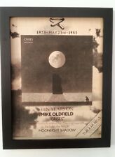 MIKE OLDFIELD*Crises*1990*ORIGINAL*POSTER*AD*FRAMED*FAST WORLD SHIP