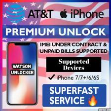 AT&T PREMIUM FACTORY UNLOCK CODE SERVICE FOR ATT IPHONE  SE   7   7+   6S   6