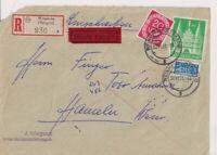 Bizone/Bauten, 97IIeg, MiF 130, R-Eil-Weinheim/Bergstr.,30.11.51