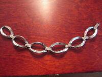 Tolles 835 Silber Armband Designer Jugendstil Art Deco Große Glieder Modernist