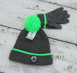 Carter's Boys Gray Green Hat with Gloves Size 4-8 NEW