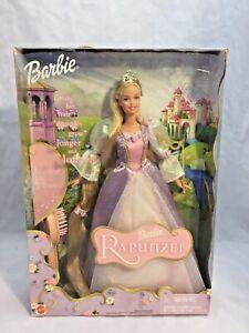 Mattel 2001 Barbie as Rapunzel Doll,  Long Hair That Magically Grows, Brush-NRFB