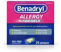 Benadryl Allergy Dye-Free 25 mg Liqui-Gels 24 ea