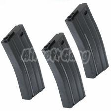 Airsoft Parts 3pcs 120rd Mid-Cap Econ Magazine for M4 M16 Black