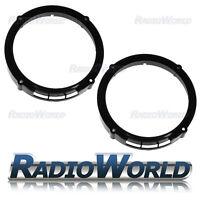 "Seat Ibiza MK2 02 to 2009 Speaker Adaptor Rings Front & Rear Doors 6.5"" 165mm"
