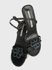 Tommy Hilfiger Wmn Heels Sandals Dk Brown Size 9 M Leather Brazil Bow Open Toe E