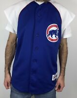 Vintage Chicago Cubs Baseball Jersey Mens Size L Large MLB Majestic Button USA