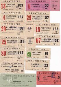 Konvolut 16 Operneintrittskarten 1969 bis 1971