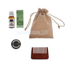 Moisturizing Beard Oil Balm Natural Men's Mustache Grooming Comb Kit & Bag
